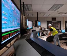 Water facility control room